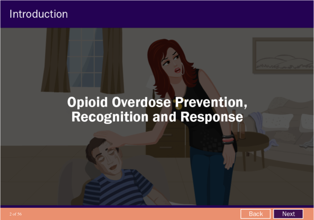 Opioid Overdose Prevention, Recognition and Response